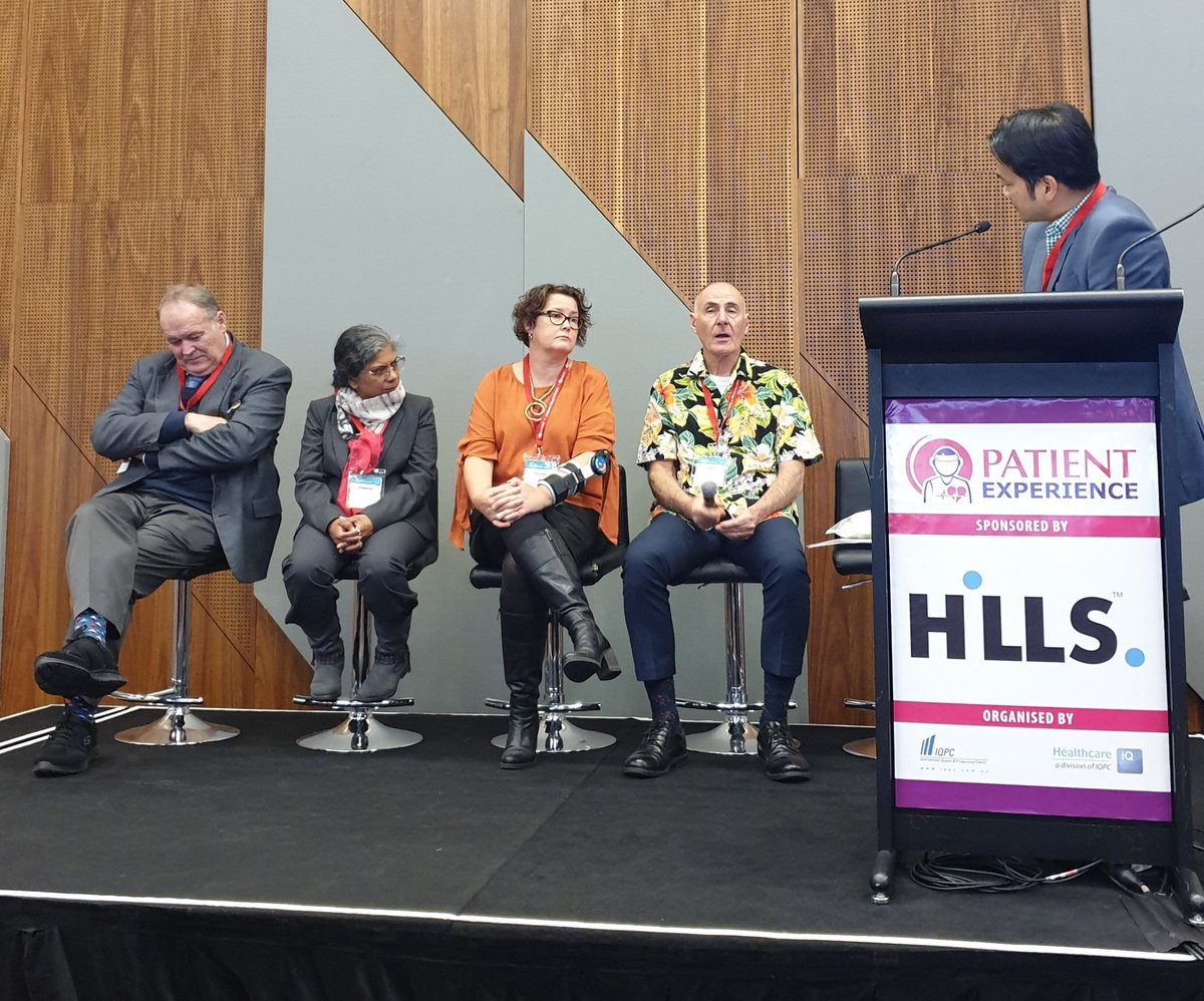 Fantastic to hear the consumer voice on this #clinicaltrial panel at #VHWAU - #kudos Leanne Foster & Alan White. Practical hints on not disadvantaging consumer participation ping @Res4Me https://t.co/YhRUx0xOhd
