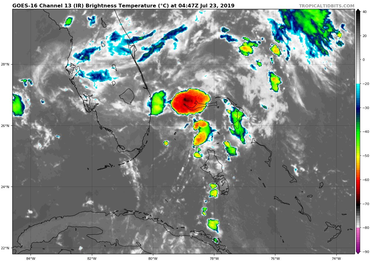 Hmm... Tropical Depression #Three is a strange one.. just like Barry. <br>http://pic.twitter.com/DHeSfRfRnX