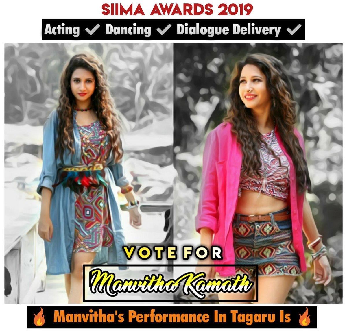 SIIMA Awards 2019 😍 Vote #Manvitha Mam For Her Brilliant