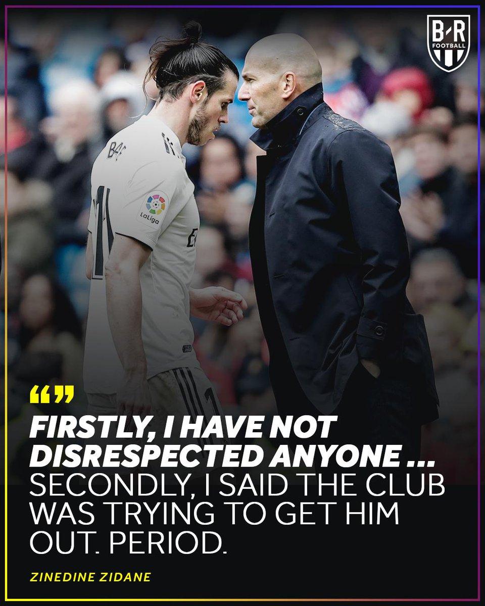Zidane hits back.
