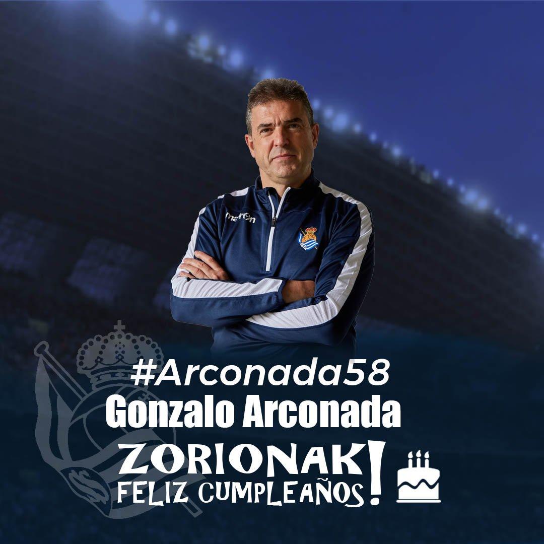 🎂 Today's Gonzalo Arconada's birthday!  ZORIONAK GONZALO!!! 🎉🎉🎉  #AurreraReala #RealSociedad