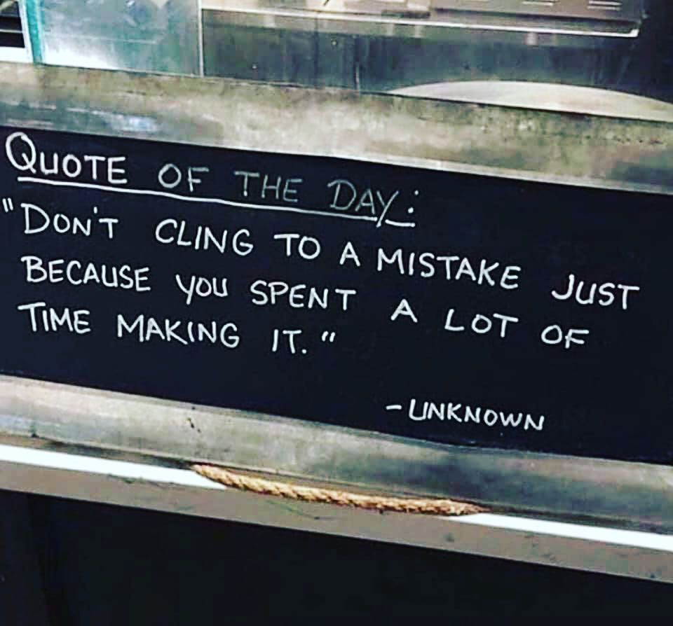 Every day brings a fresh batch of mistakes to learn from