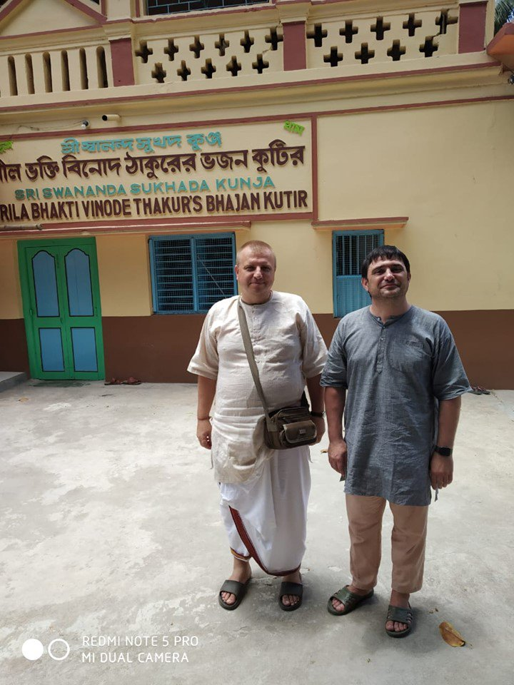 """A Russian tourist's Mayapur Experience-""""I am feeling peace at Mayapur"""". Two tourists, Singheswar and Dennis from Voldivotsk, Russia, touring the nine islands of Nabadvipa, are feeling too excited to be in Mayapur!  Read more:https://t.co/XGkgxhnuoO https://t.co/XMhaaqJq4Y"""
