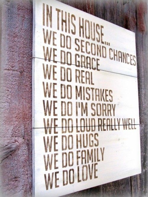 """In This House"" rules! Love this!  #relationships #familylife"