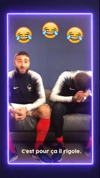 .@NabilFekir et @TanguyNdombele ont tous les deux quitté Lyon cet été mais ils pourront toujours se retrouver en Équipe de France 🇫🇷😄#FiersdetreBleus