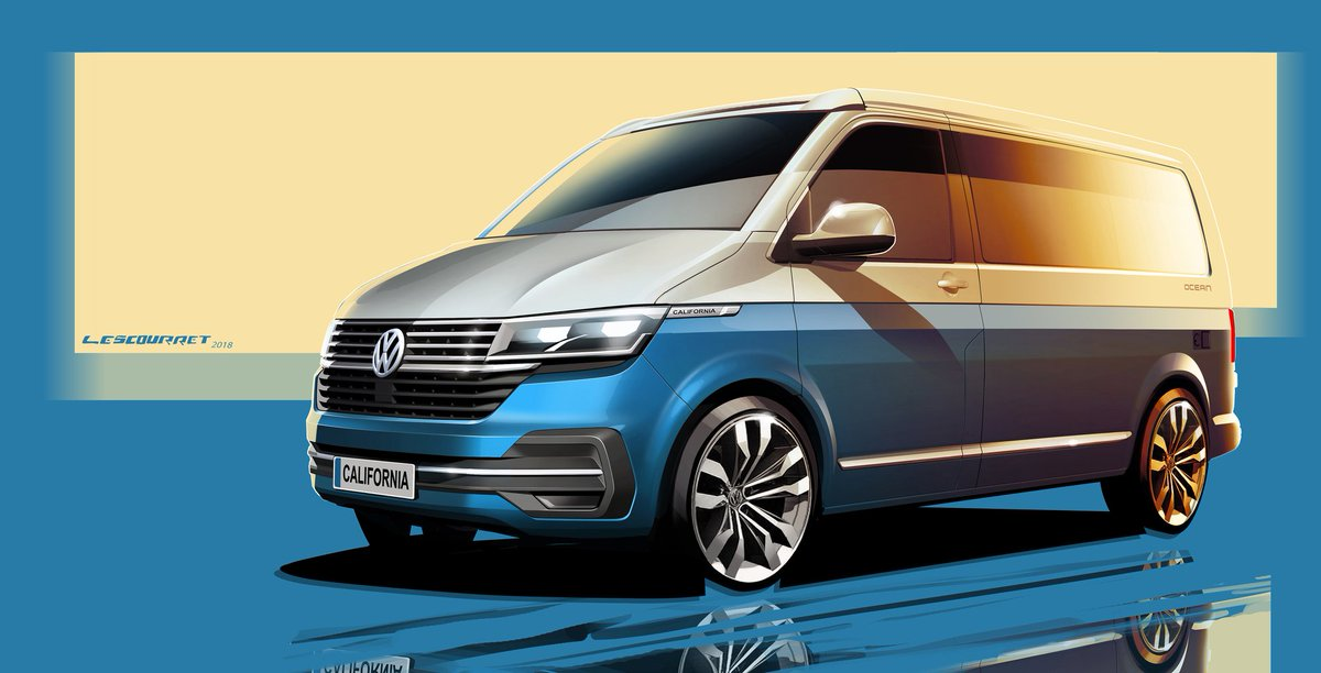 Can you make the best campervan even better?  Welcome the California T6.1.  Enjoy the first sketch of the California T6.1 ahead of more details being released next month, then register your interest here: http://po.st/California_T6.1