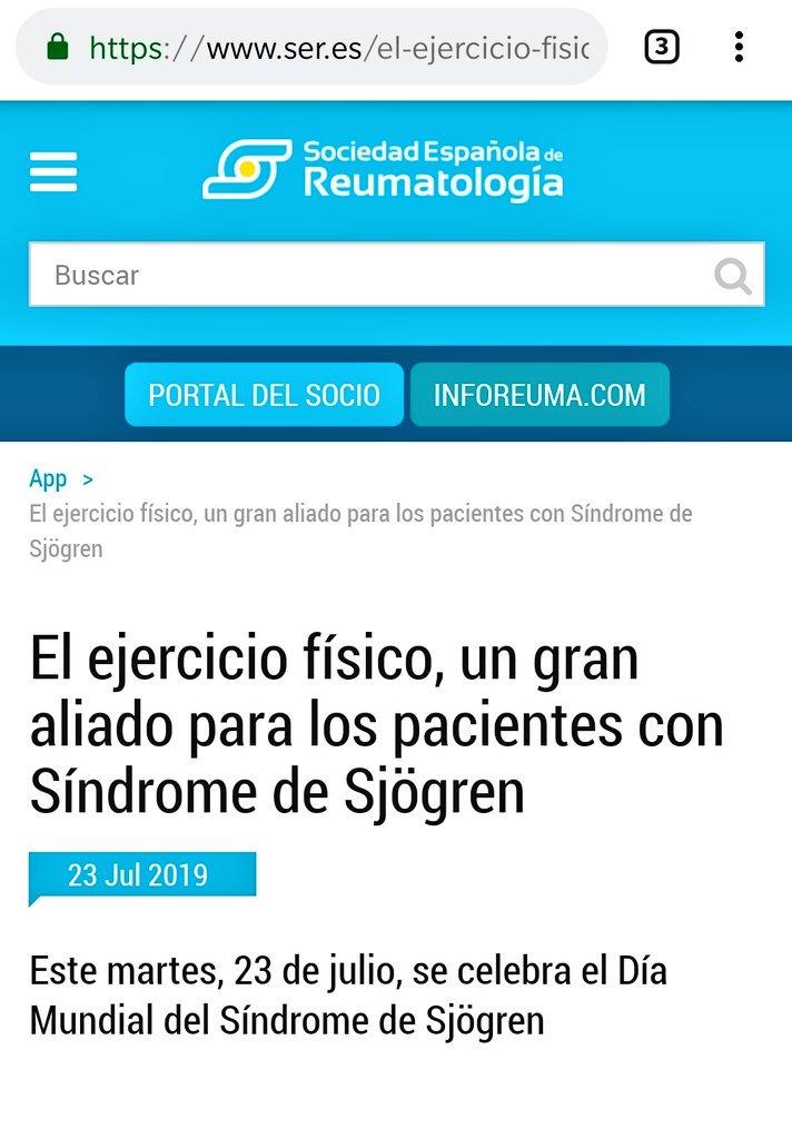 El ejercicio físico, un gran aliado para los pacientes con Síndrome de Sjögren https://www.ser.es/el-ejercicio-fisico-un-gran-aliado-para-los-pacientes-con-sindrome-de-sjogren/… #WorldSjögrenDay