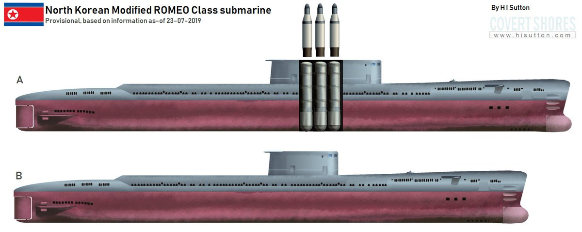 New article. Breaking. First illustration of North Korea new modified ROMEO Class #submarine. Info at  http://www.hisutton.com/ROMEO-Mod_Submarine.html … #DPRK #KoreanUpdates
