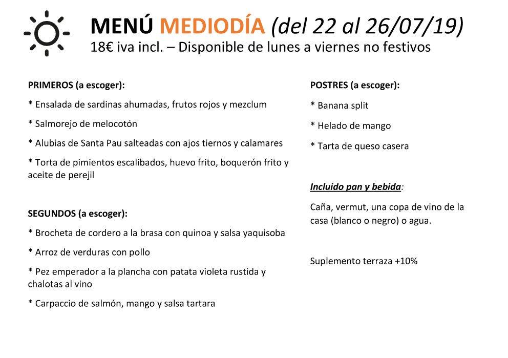 ¡Alegría pal cuerpo! 😋 Aquí teniu el #menu migdia de la setmana ➡️ Reserves: 📞934324116  #restaurant #barcelona #sants #hostafrancs #cuina #tradicional #comacasa #tradicional #traditional #quenousfaltideres #xupxup #grups #parelles #families #igersbcn #foodporn #foodiebarcelona