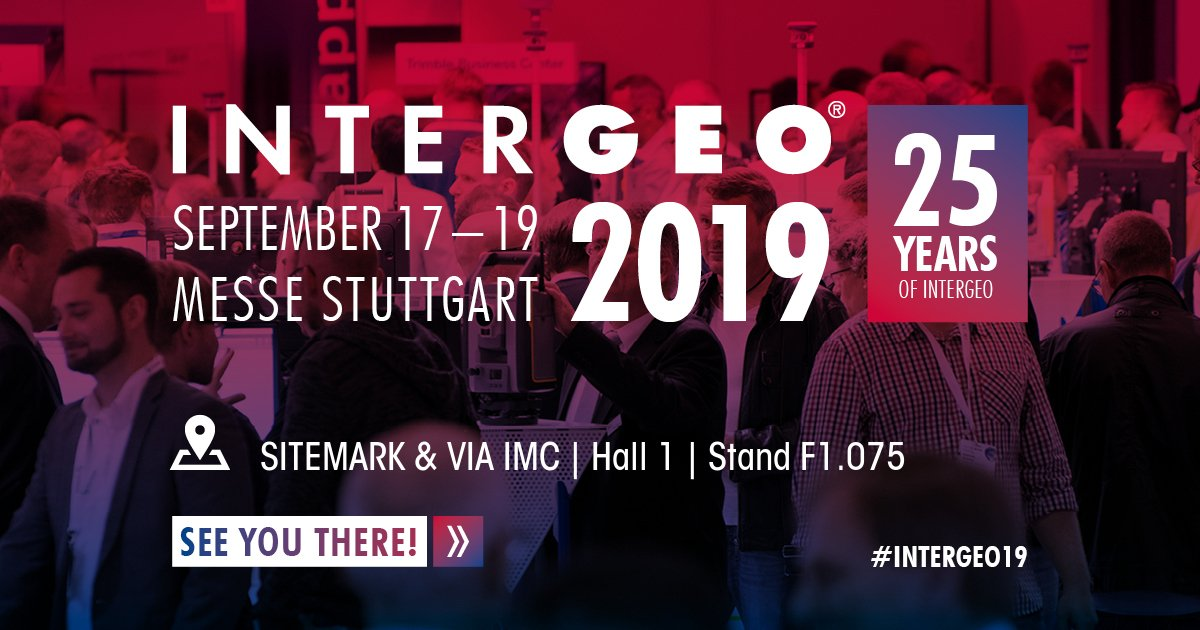 Are you attending #INTERGEO in Stuttgart this year? Sitemark is! Come and meet us and our partner, VIA IMC, the #digital #innovation division of the @VINCI group. See how Sitemark and VIA IMC's solution for the #construction industry simplifies the use of #drones and #aerial data