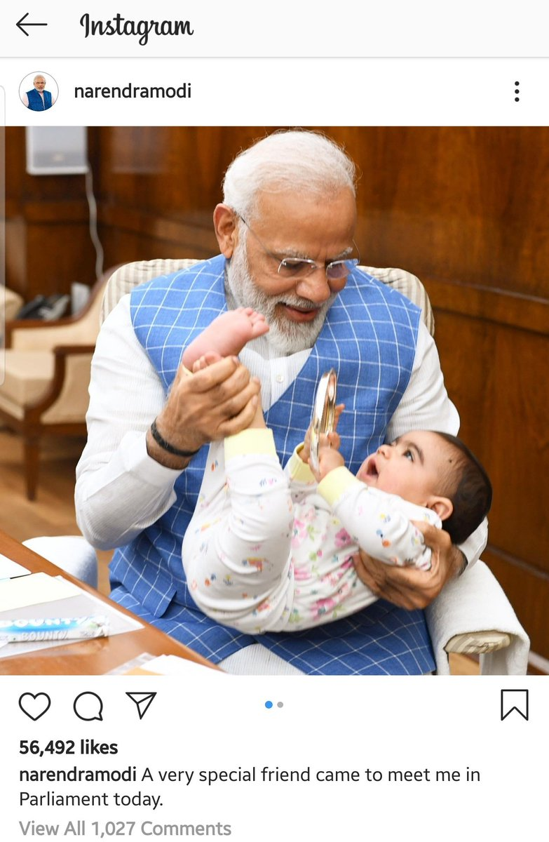 A visitor for the PM in Parliament today