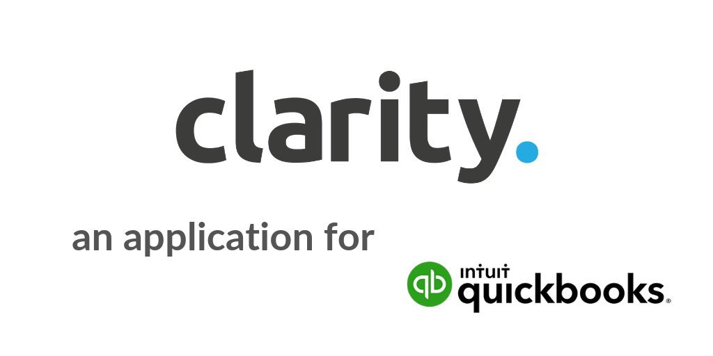 ⚡️it's official ⚡️  hot on the heels of last week's announcement ..... the @clarity_hq team are excited to officially announce that:-  #Clarity is now an application for @QuickBooks 🎉🙌🍾  thanks for all the help, effort and support from both my team and the @IntuitDev team 🙏