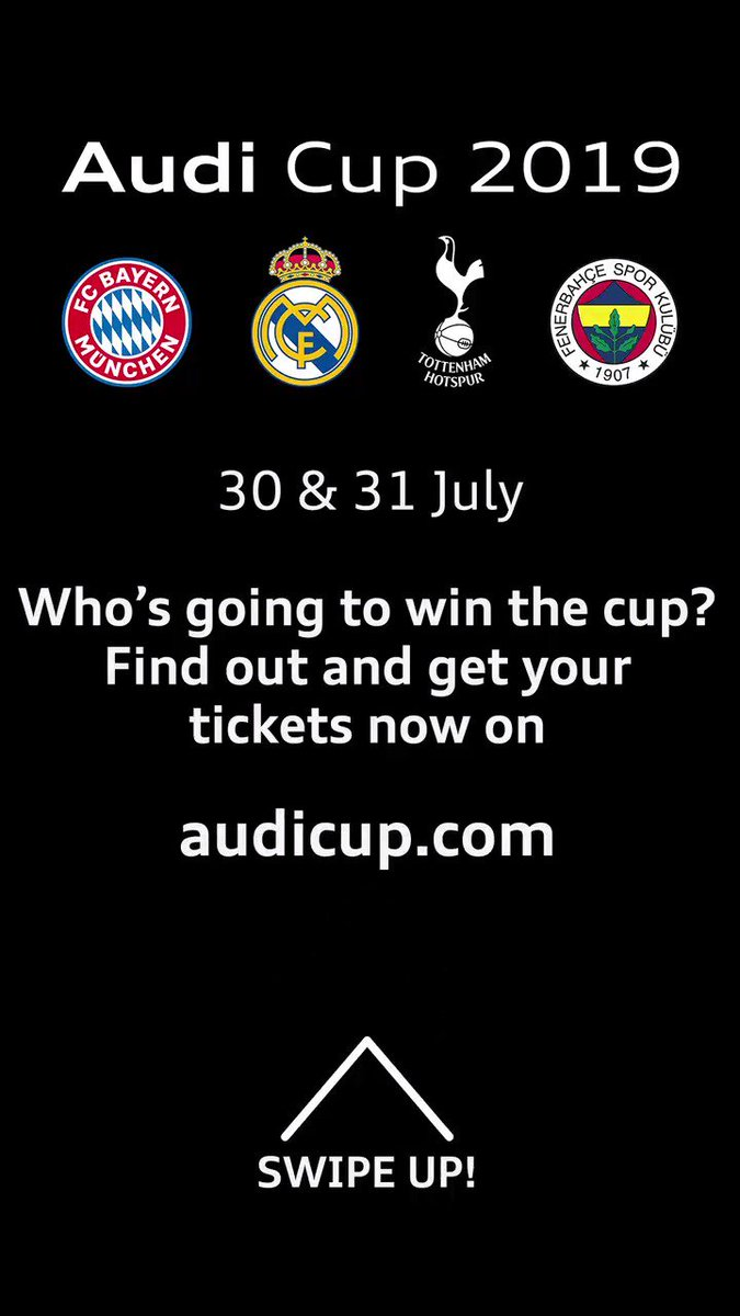 Last 7 days for Audi Cup 2019! 😎 Tickets 👉 audicup.com/en