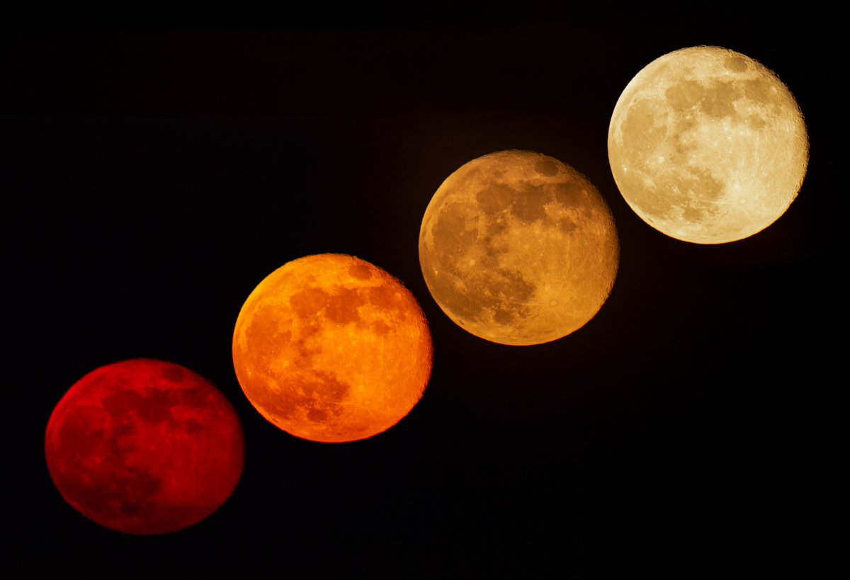 The changing colour of a #moonrise taken @kielder_obs  #MoonLanding50 #luna50 #astrophotography #astronomy @EpicCosmos @apod @_SpaceWeather_ @SkyandTelescope