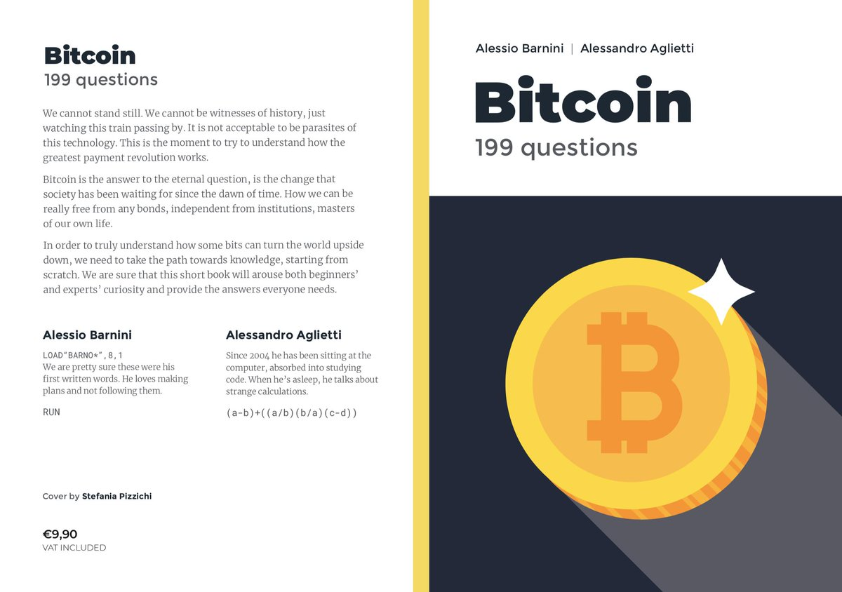 Are you looking for #Bitcoin answers? Check this paperback! How can we really be free from any bonds, independent from institutions, masters of our own life? Get a copy for #free if you have #KindleUnlimited plan!  > https://t.co/py4TTqoVRX  #blockchain #freedom #cryptocurrencies https://t.co/wogqLtAMPc