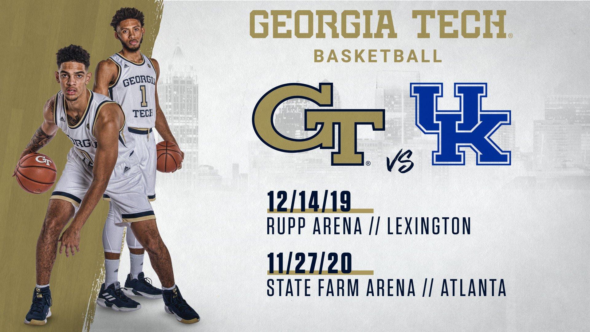 Georgia Tech Yellow Jackets NCAA Basketball: SCHEDULE NEWS! #GTMBB & Kentucky Agree on 2-game series. Jackets travel to Lexington th...