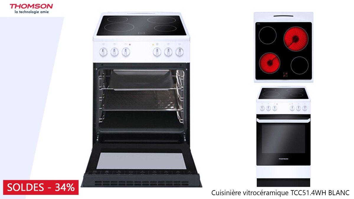 revendeur 1d9bd c4870 Soldes ! La cuisinière vitrocéramique #Thomson TCC51.4 WH ...