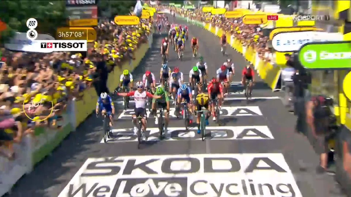 Caleb Ewan wint 16e etappe Tour de France 2019