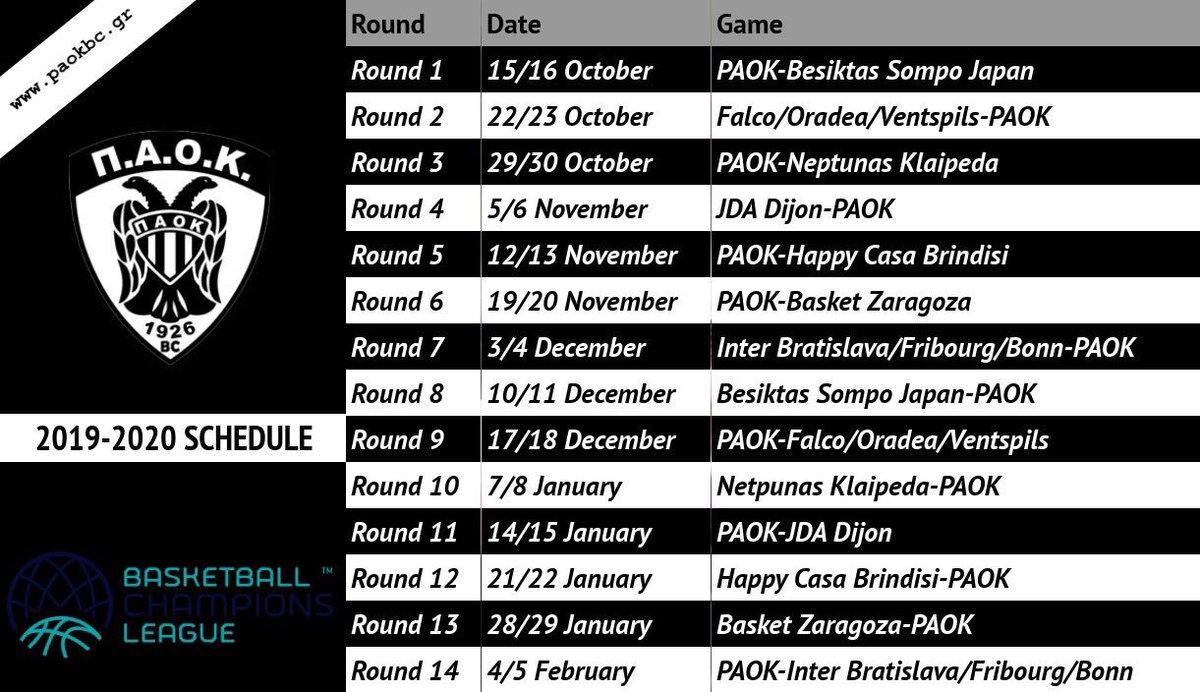 5edfd2d9d Όσο περιμένουμε την κλήρωση της επόμενης περιόδου στην Basket League  (19:00, ERT SPORTS), ας θυμηθούμε το πρόγραμμα του #PAOKBC στο ...