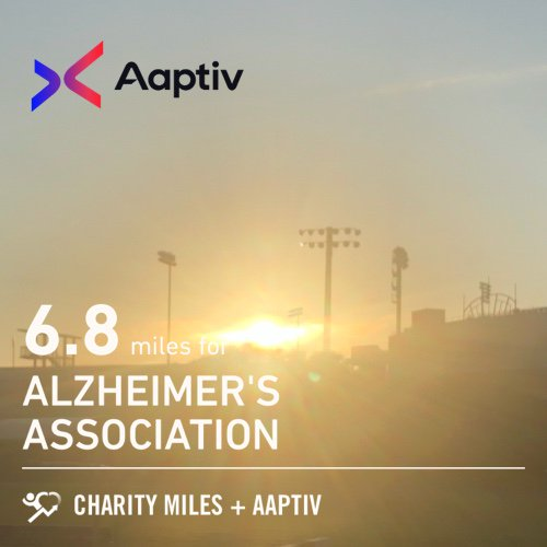 Tempo-hills-tempo, 6.8 @CharityMiles for @alzassociation. Thx @Aaptiv for sponsoring me! aaptiv.com/charitymiles
