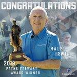 Image for the Tweet beginning: Congrats, Hale Irwin, recipient of