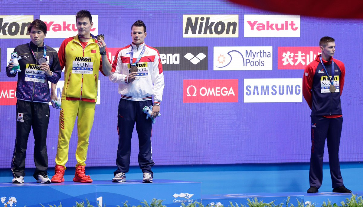 British swimmer Duncan Scott refuses to share podium with 'drug cheat' Sun Yang #FINAGwangju2019   https://t.co/KPfaFtPnDI https://t.co/OhgKDvOjds