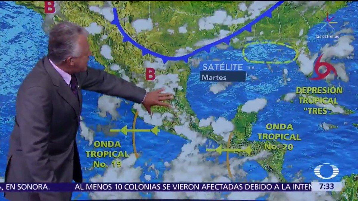 Este martes en el Valle de México se registrarán lluvias que podrán estar acompañadas de descargas eléctricas y posibles granizadas. El pronóstico del clima completo a cargo de Leonardo Sánchez (@Archie_clima). #DespiertaConLoret