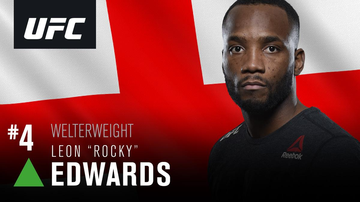 Taking a seat at the top table! 🔝  @Leon_EdwardsMMA moves up to 4th in the welterweight rankings!