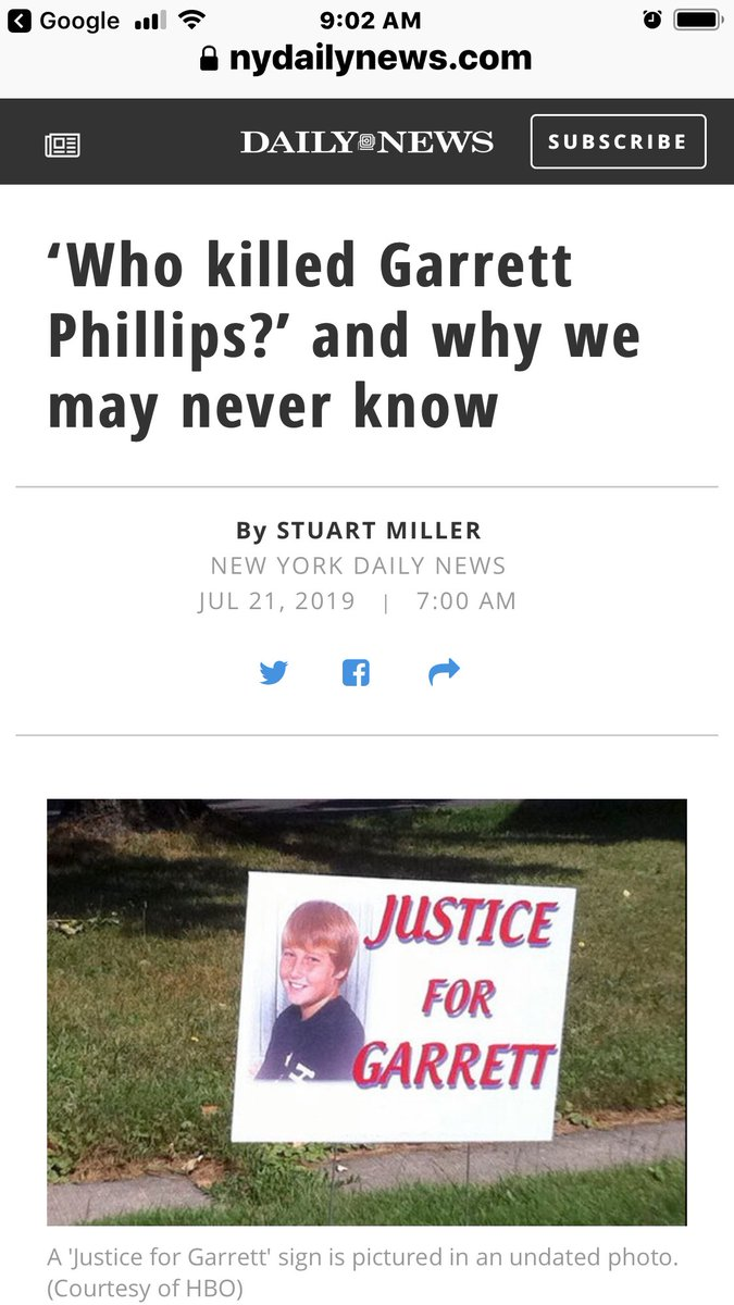 """The two-part HBO documentary """"Who Killed Garrett Phillips?""""  Two years after the slaying, Garrett's mother's ex-boyfriend, #OralNickHillary, was arrested, tried for the murder and acquitted. He is highly educated #Jamaican #immigrant, living in a community that was 94 % white."""