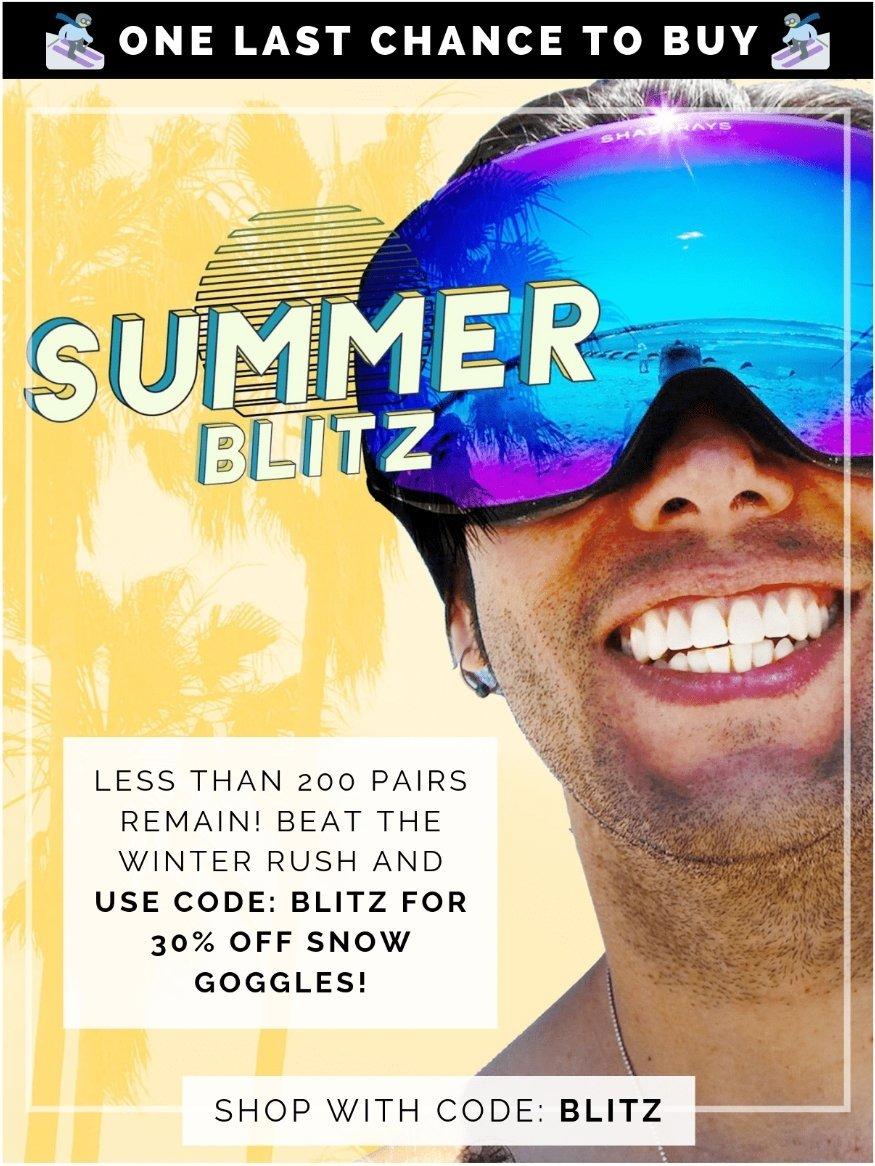 284ac88bb88c Code SAVE25 to save 25% on 1 pair Code BEST to save 50% on 2 pair Code  BLITZ to save 30% on goggles #ShadyRays #WeGotYou #LiveHard  pic.twitter.com/ ...