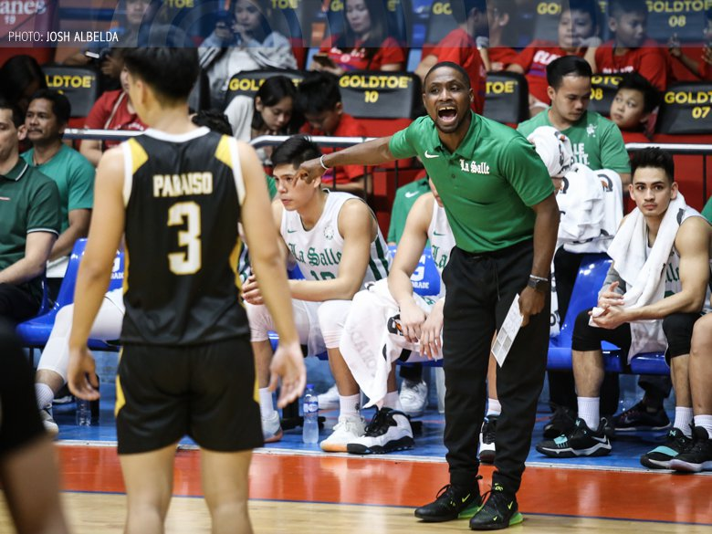 """DLSU will parade four Filipino-foreigners for #UAAPSeason82 🏹 Keyshawn Evans 6'0"""" Andrew Singson 6'5"""" Jamie Orme 6'7"""" James Laput 6'9"""" Watch out, UAAP 👀 » bit.ly/2LDkZJ8"""