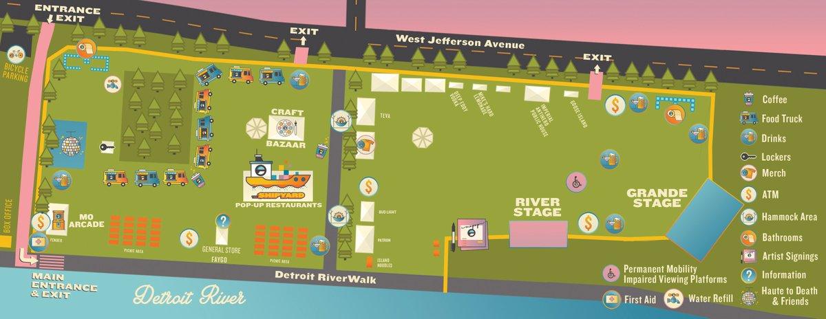 2020 Mo Pop Festival map