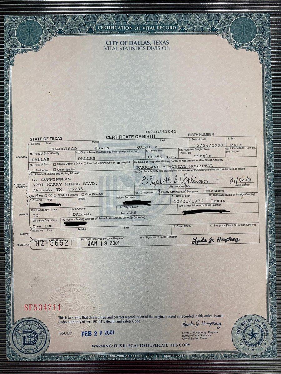 city of dallas birth records