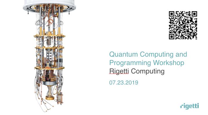 Rigetti Computing (@rigetti) | Twitter