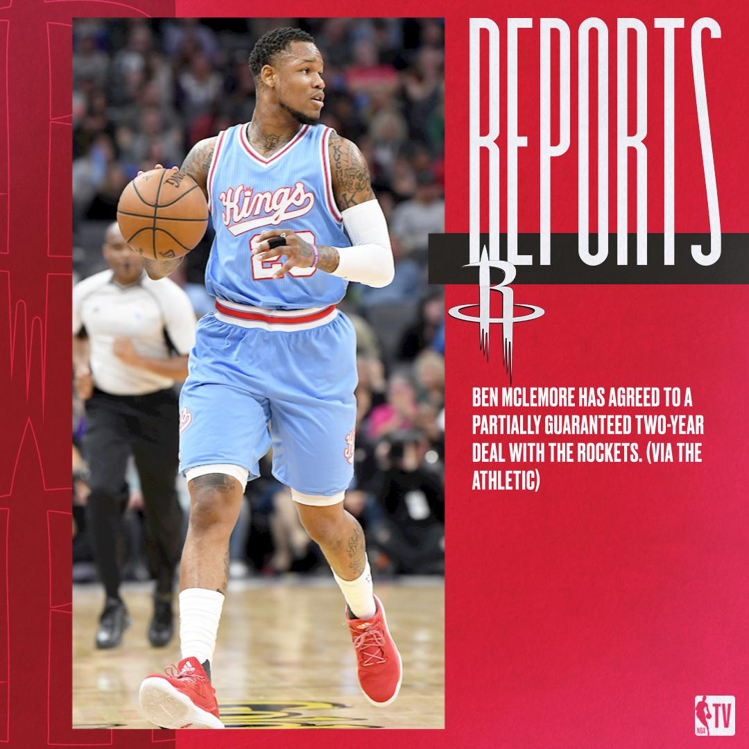 Ben McLemore has agreed to a partially guaranteed two-year deal with the Rockets.   (via The Athletic)
