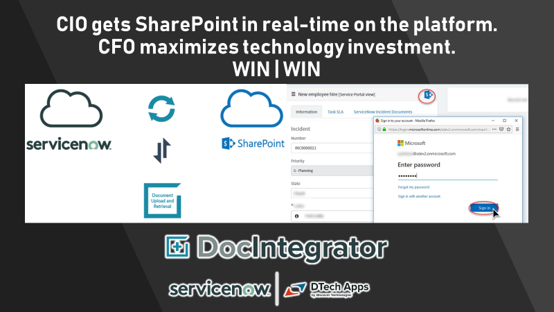 RT DTechApps1: Gain the support of your #CIO & #CFO by fully optimizing your servicenow investment with #realtime #SharePoint #integration via #DocIntegrator by DTechApps1 Learn more: http://ow.ly/m1kt50v97hU