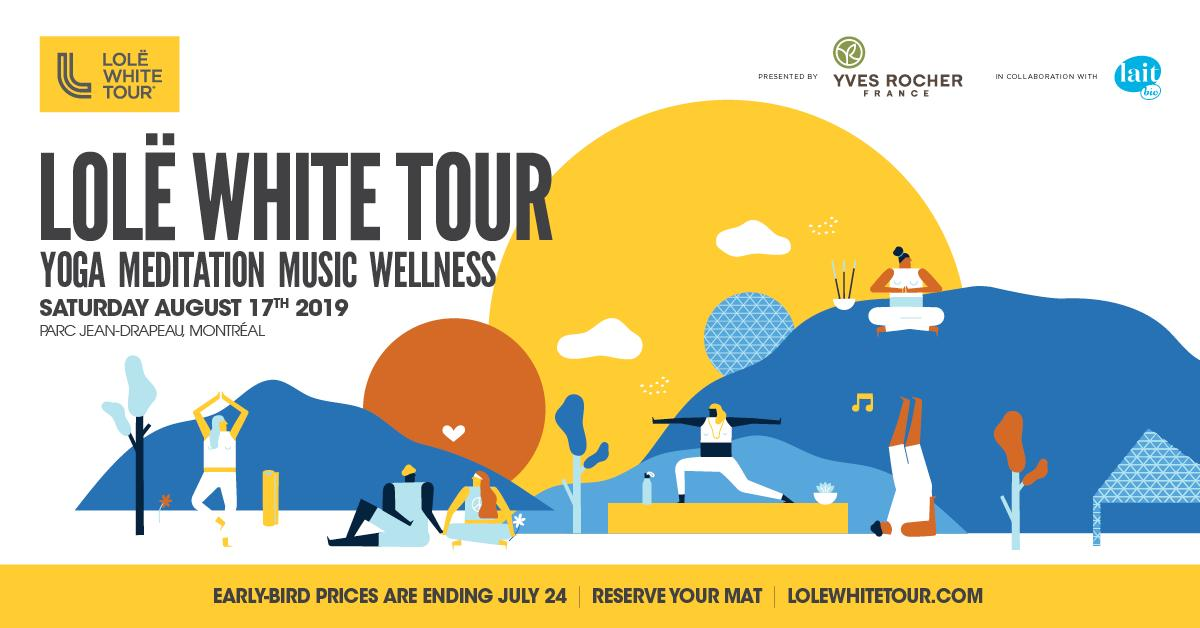 JUST A FEW HOURS LEFT! Do you have your tickets to the Lolë White Tour yet? Early-bird pricing ends tonight at midnight! 🙌🏼 #lolewhitetour . Reserve your mat now >> https://t.co/QKBfqv5Ad6 https://t.co/HZpQRTzCcn