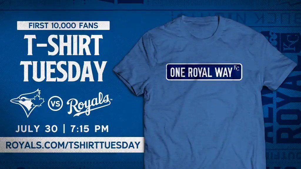 See you at One Royal Way for #TShirtTuesday on July 30.👉http://royals.com/tshirttuesday