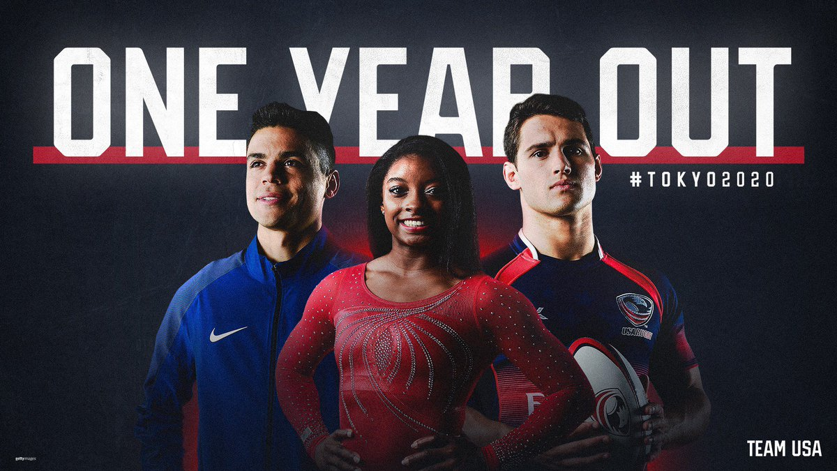 We're one year out. The vision is clear: 2020. #TokyoOlympics
