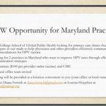 Image for the Tweet beginning: Ask your #Maryland Doctor if