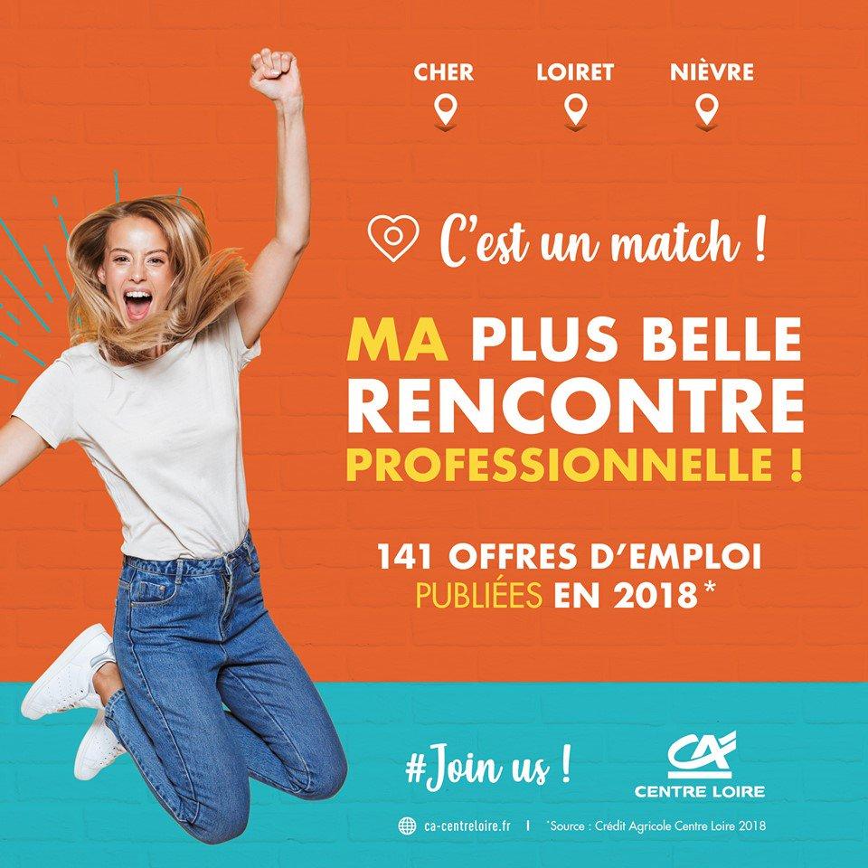 MA CARRIÈRE M'ATTEND ICI ! Ma plus belle rencontre professionnelle... 👉 141 offres d'emploi publiées en 2018*. Rejoignez-nous ! https://www.ca-centre-recrute.fr/espace-candidats/…  #CestUnMatch #JoinUs #OffresEmploi  *source Crédit Agricole Centre Loire 2018