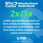 Image for the Tweet beginning: July is minority mental health