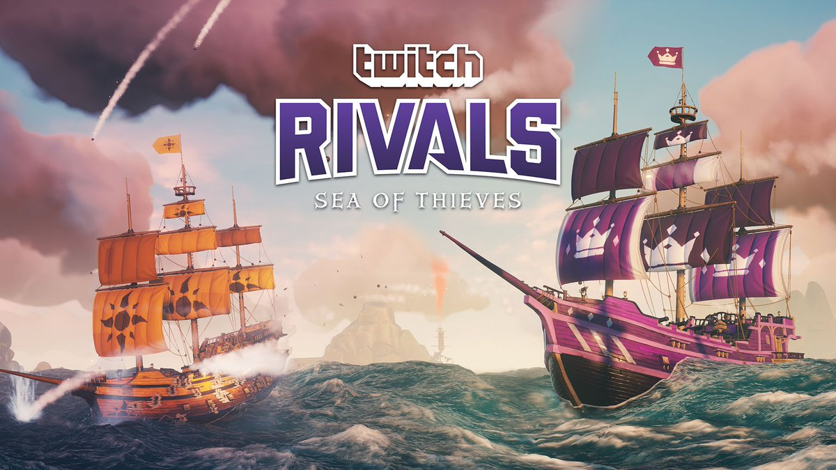 We're live with the #SeaOfThieves @Twitch Rivals event! Tune in now to watch the crews battle for glory and a share of the $100k prize pool!   Watch at either:   http://www.twitch.tv/twitchrivals  http://www.twitch.tv/seaofthieves