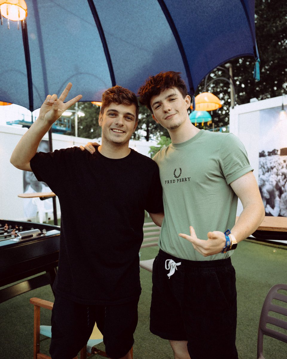 good talk with the legend @MartinGarrix 🔥 wish you a quick recovery bro!