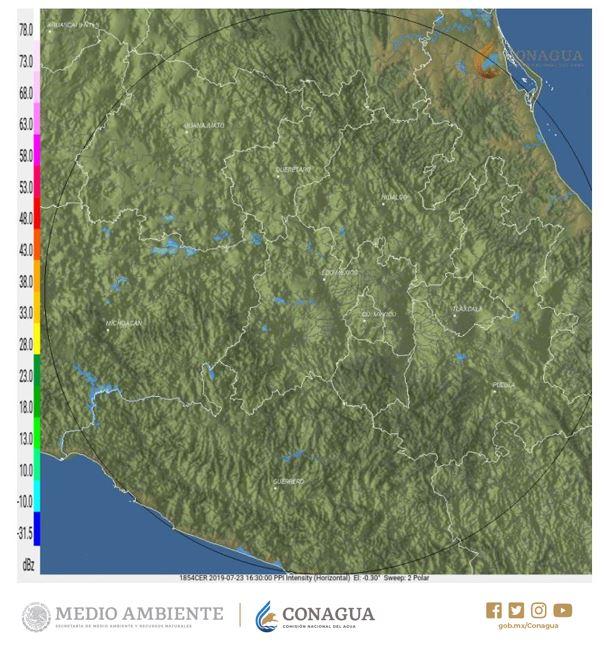 #Chubascos dispersos ☔️ con #DescargasEléctricas ⚡️ se prevén en las siguientes horas en el occidente, sur y oriente del #EdoMéx, norte de #Morelos y norte y oriente de #Puebla. Más detalles en el #Pronóstico para el #ValleDeMéxico que puedes consultar en https://smn.conagua.gob.mx/es/pronosticos/avisos/aviso-de-potencial-de-tormentas-en-el-valle-de-mexico…