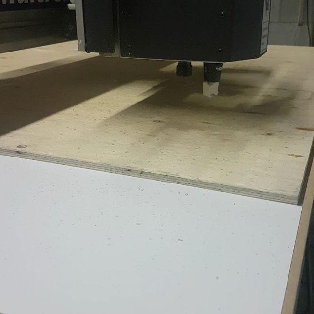 Our CNC cutting into some ply designs for our client #CNC
