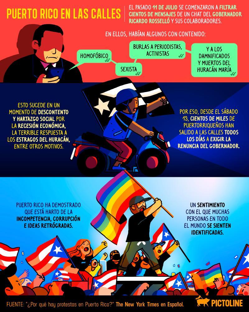 Después de más de 10 días de salir a las calles, las protestas en Puerto Rico han provocado admiración en toda la región 🇵🇷💪
