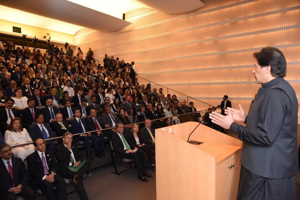 Prime Minister Imran Khan speaking at U.S. Institute of Peace. #PMIKVisitingUS <br>http://pic.twitter.com/9kDraVFwnk