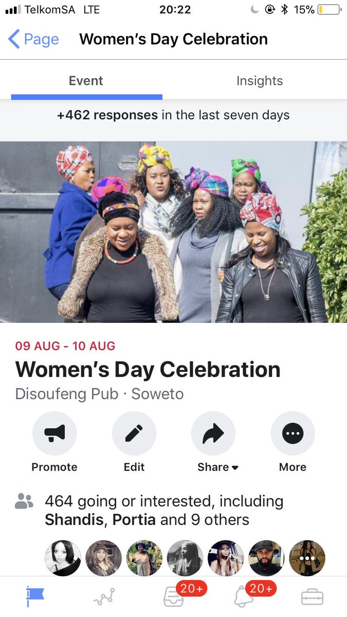 https://www.facebook.com/events/2529218577135753/?ti=ia …  #WomensDay Celebration   09 August 2019  Tickets Available via bookings@disoufengpub.co.za or 0613706102.  NO TICKETS WILL BE SOLD AT THE GATE!