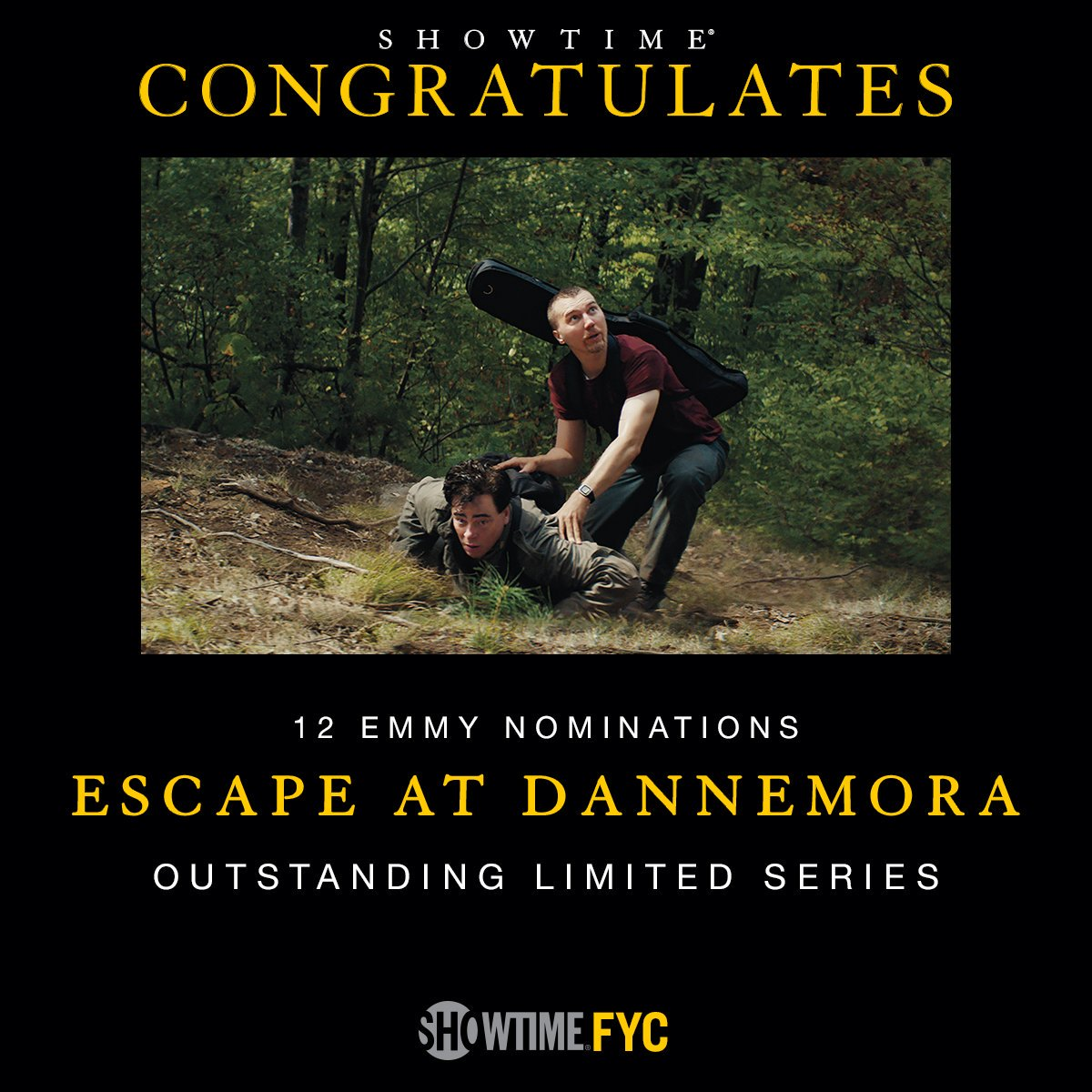 Showtime: To celebrate our 18 #Emmy nominations, you can now stream the first episodes of #Escape...